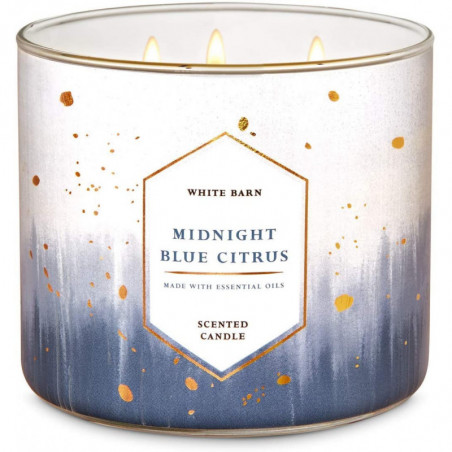 Bath And Body Works White Barn Midnight Blue Citrus Scented 3 Wick Candle 411g- Scented Candle