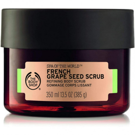 The Body Shop Spa of the World French Grape Seed Scrub 350ml- helps to invigorate, exfoliate and refine your skin