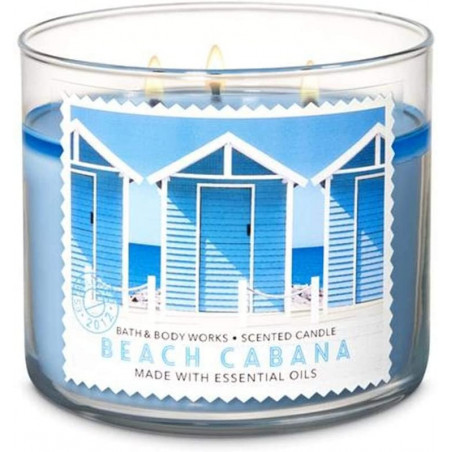 Bath and Body Works 3 Wick Beach Cabana 411g - with Essential oils