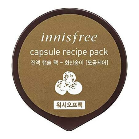 Innisfree Capsule Recipe Pack Volcanic Scoria 10ml - A clay pack with Jeju volcanic scoria that effectively absorb excessive seb