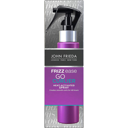 John Frieda Frizz Ease Go Curlier Heat Activated Spray for Curly Hair 100 ml - Activate curls. Salon-smooth style lasts up to 48