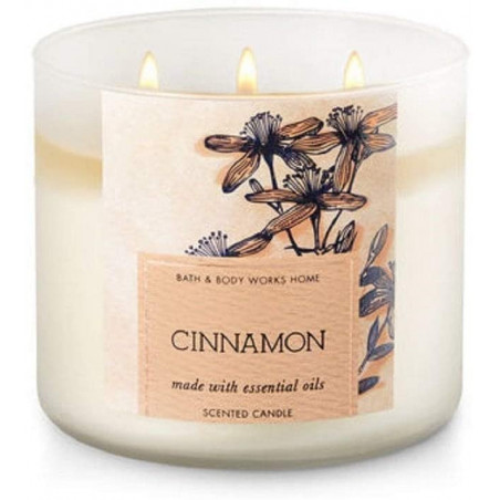 Bath and Body Works Cinnamon 3-wick Candle 411g - with Essential oils