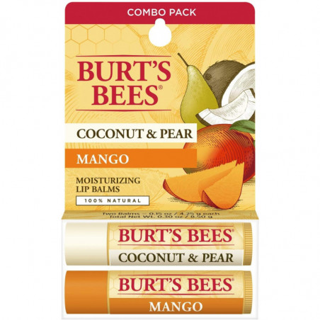 Burt's Bees Coconut and Pear and Mango Lip Balm