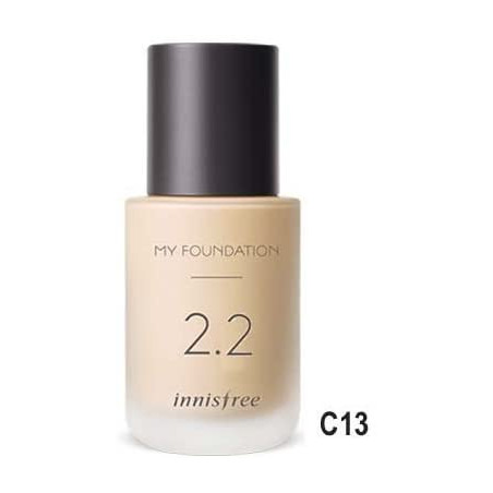 Innisfree My Foundation Light Beige C13 2.2 - A customisable foundation based on moisture level, coverage level, and shade that