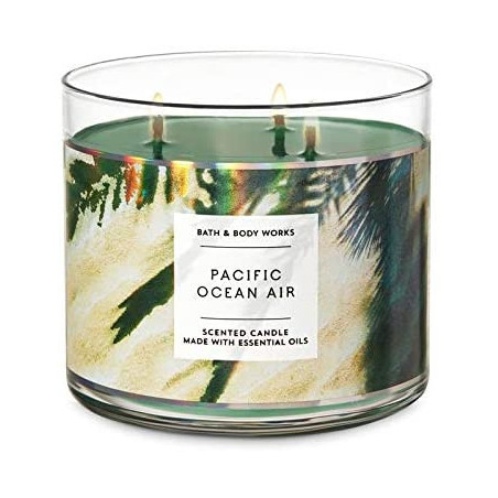 Bath and Body Works PACIFIC OCEAN AIR Scented Candle 411g - with Essential Oils