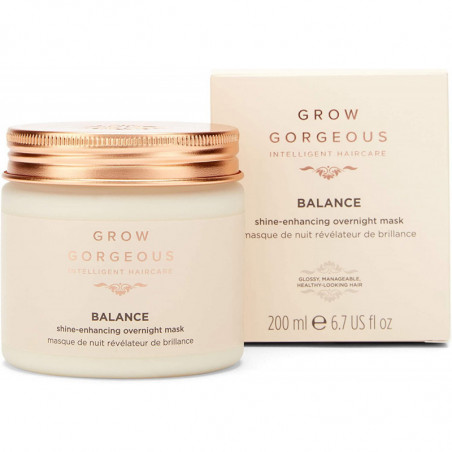 Grow Gorgeous Balance Shine-Enhancing Overnight Mask 200ml - Leaving your hair soft and frizz-free.