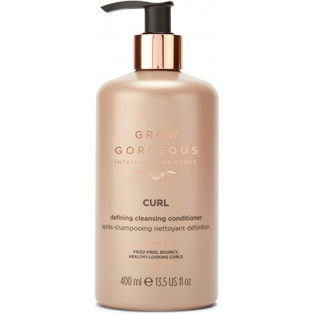 Grow Gorgeous Curl Defining Cleansing Conditioner 400ml - for smooth and nourish curls, giving a natural shine.