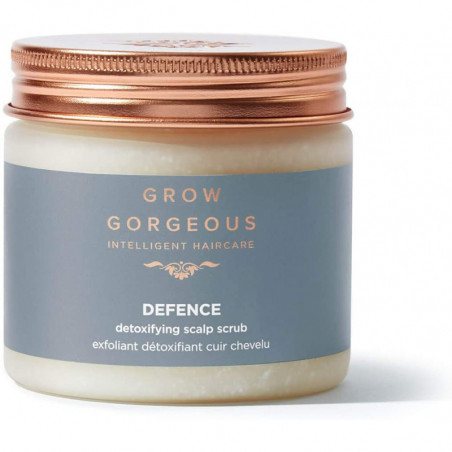 Grow Gorgeous Defence Detoxifying Scalp Scrub 200ml - helps you to cleanse pollution from your hair and scalp.