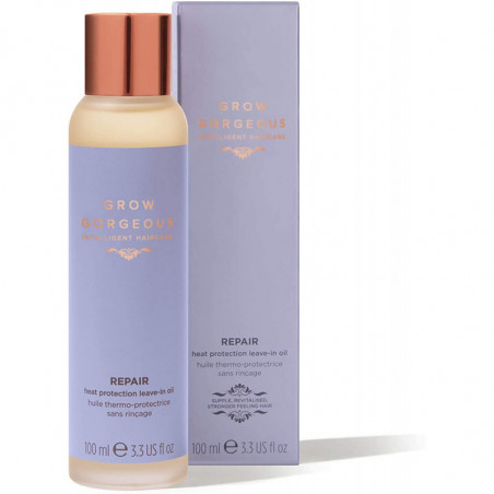 Grow Gorgeous New Repair Heat Protection Leave-in Oil 100ml - restore a glossy finish, for healthy-looking hair.