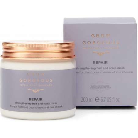 Grow Gorgeous Repair Strengthening Hair and Scalp Mask 200ml - leave your hair feeling soft and sleek with a healthy shine