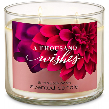 Bath And Body Works A THOUSAND WISHES Scented 3 Wick Candle 411g