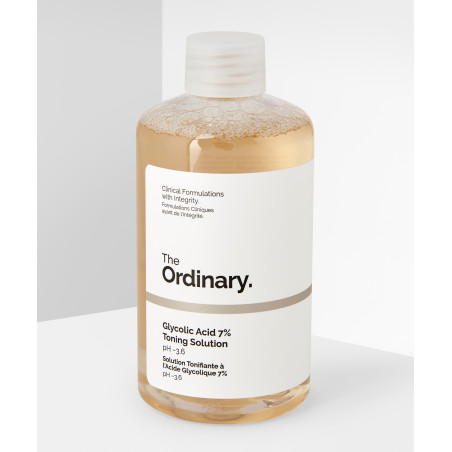 The Ordinary Glycolic Acid 7% Toning Solution (With 7% glycolic acid, amino acids, aloe vera, ginseng and tasmanian pepperberry)