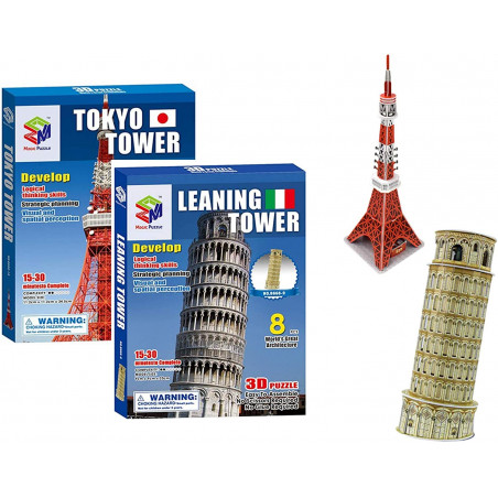 2pcs 3D World Jigsaws,...