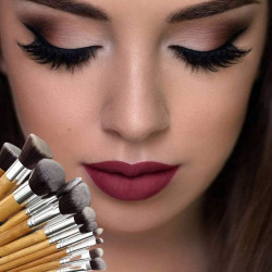 Makeup Brushes Set Professional Wooden Cosmetic Brush, Meets All Your Needs For One Brush Sets (11 Pcs)