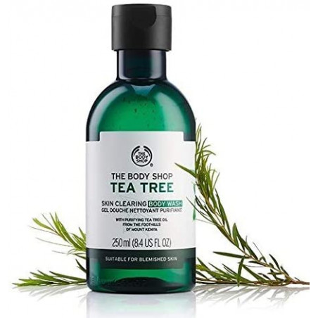 The Body Shop Tea Tree Skin Clearing Body Wash 250ml - it leaves skin feeling clean and refreshed.