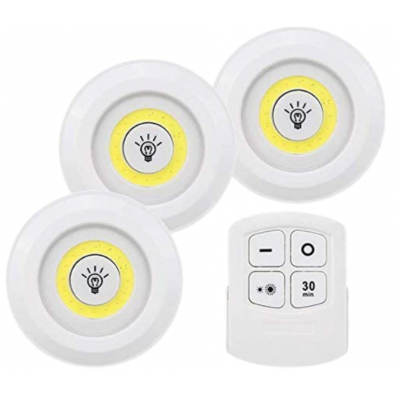 Led Lights With Remote Control For Cabinet, Stick, Tap Touch Lamp, Battery-Powered, Dimmable Light