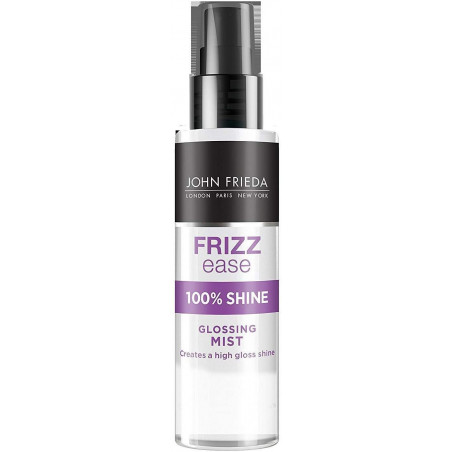 JOHN FRIEDA Frizz-Ease Glossing Mist Spray Gloss, 75ml - Polish and glisten. Flaunt unstoppable shine.