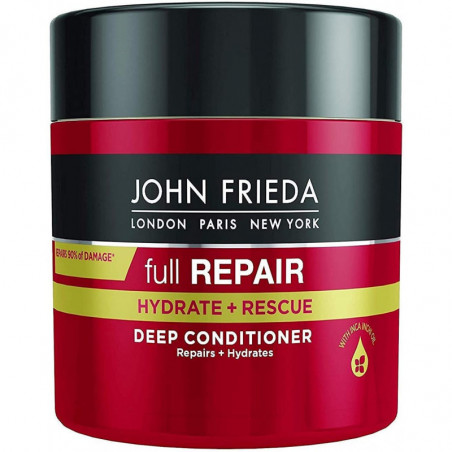 JOHN FRIEDA Full Repair Hydrate + Rescue Deep Conditioner Mask, 150ml - Reverse the look and feel of damaged hair with every use