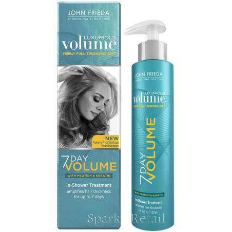 John Frieda Luxurious Volume Seven Day Volume in-Shower Treatment, 100 ml - Transform fine, limp strands. Amplify thickness from