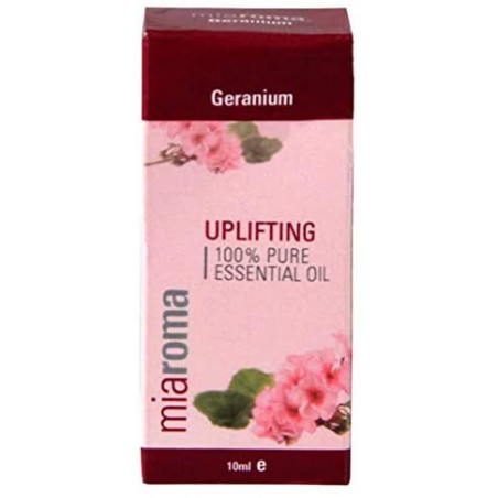 Miaroma Geranium Pure Essential Oil 10ml - Known to be a great balancer with an uplifting aroma and it's especially helpful with