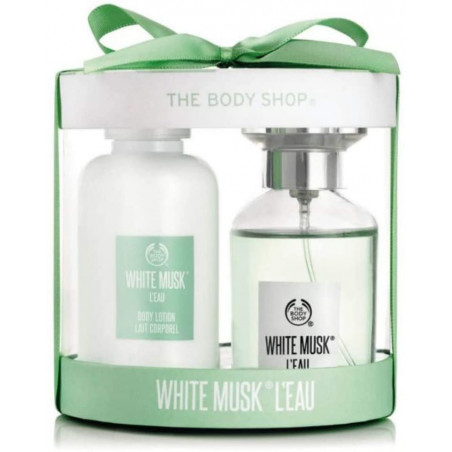 The Body Shop White Musk L'Eau EDT Gift Set - with the fragrance of pear with the original White Musk blend and leaves your skin