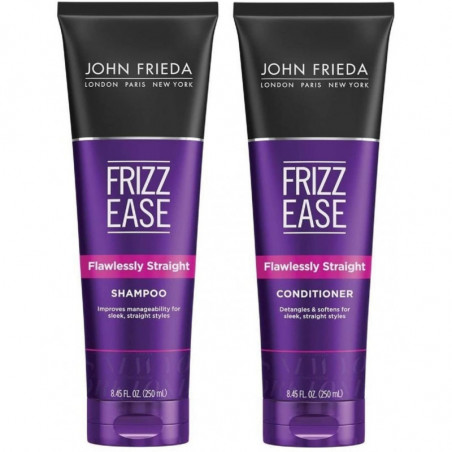 JOHN FRIEDA Frizz Ease Flawlessly Straight Shampoo and Conditioner 250ml each - Tames, streamlines, calms frizz and straight fro