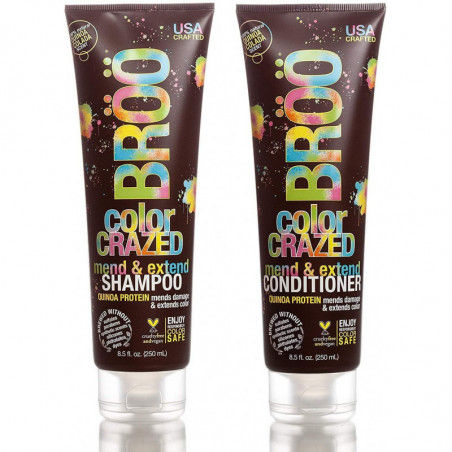 Broo Color Crazed Mend and Extend Shampoo and Conditioner 250ml each