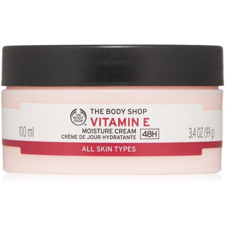 The Body Shop Vitamin E Moisture Cream, 100Ml - to leave skin feeling fresh, silky-soft and looking more radiant.