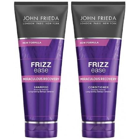 JOHN FRIEDA Frizz Ease Miraculous Recovery Shampoo and Conditioner 250ml each - Visibly repair frizz-causing damage. Achieve you