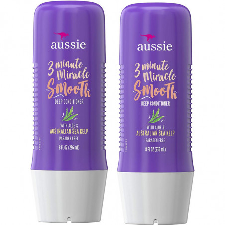 Aussie 3 Minute Miracle Smooth Hair Care Treatment Deep Conditioner Aloe &amp