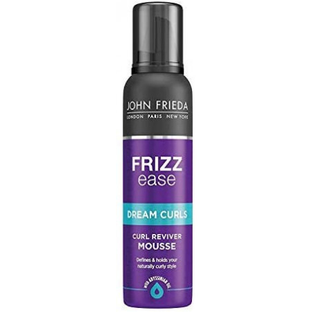 JOHN FRIEDA Frizz Ease Dream Curls Curl Reviver Hair Mousse 200 ml - Tame frizz and restore bounce. Wake up tired curls and wave
