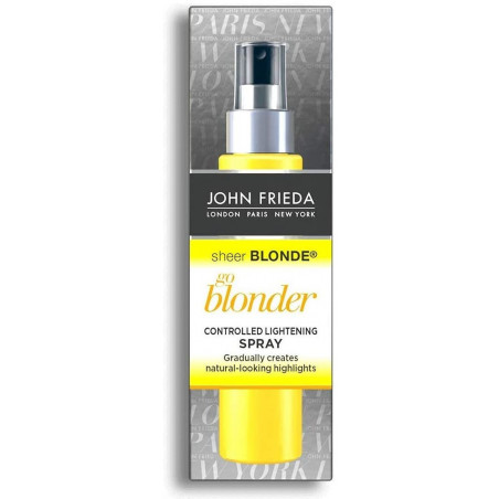 JOHN FRIEDA Sheer Blonde Go Blonder Controlled Lightening Spray 100ml - Go lighter and lighter. Up to two shades blonder.