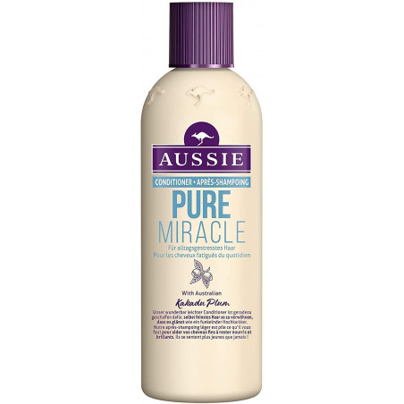 Aussie Pure Miracle Conditioner 250ml with Kakadu Plum - Gives even the finest hair fullness and strength.