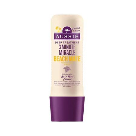 Aussie 3 Minute Miracle Beach Mate Deep Treatment Conditioner 250ml - Revive your hair from sandy and salty beach adventures.