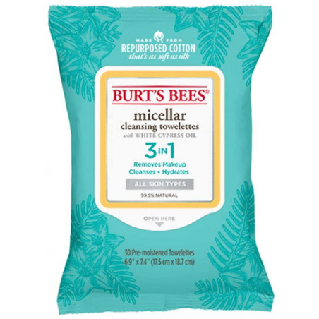 Burt's Bees Micellar Cleansing Towelettes, 30-Count