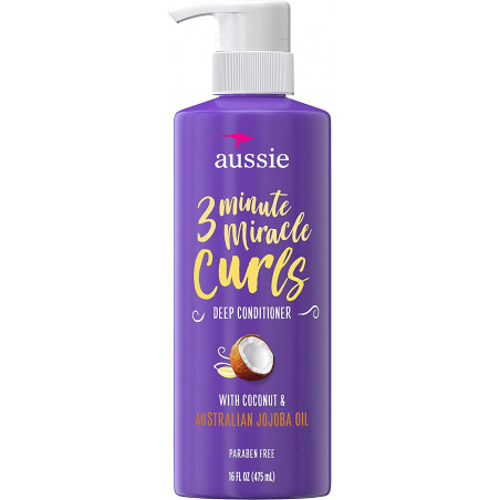 Aussie 3 Minute Miracle Curls Co-Wash For Curly Hair with Coconut &amp