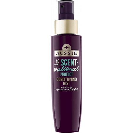 Aussie Scent-sational Conditioning Mist: Protect 95ml - with Australian Macadamia Nut Oil gives hair a 48-hour scent-sational fr